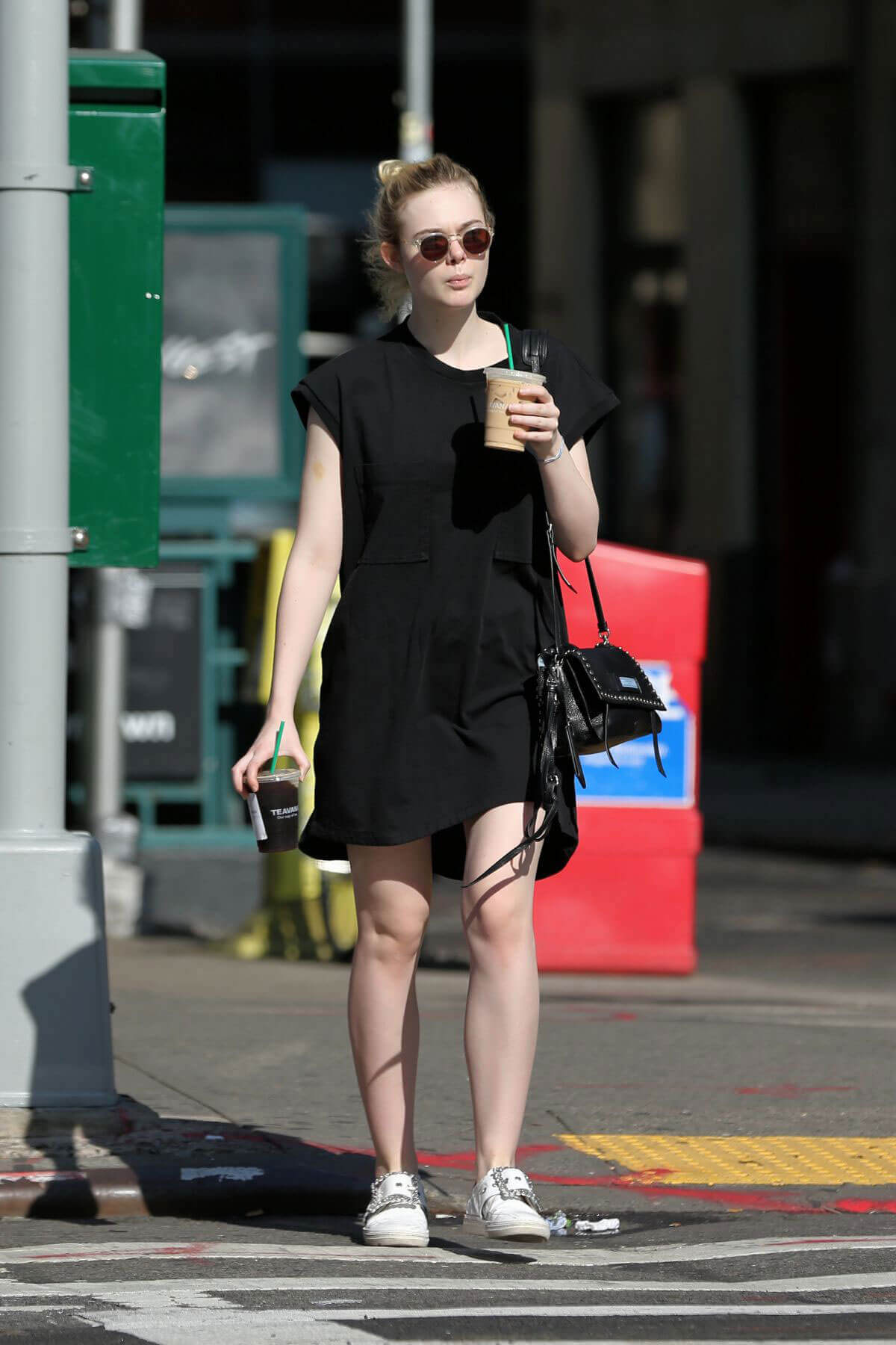 Elle Fanning Stills Out and About in New York Photos