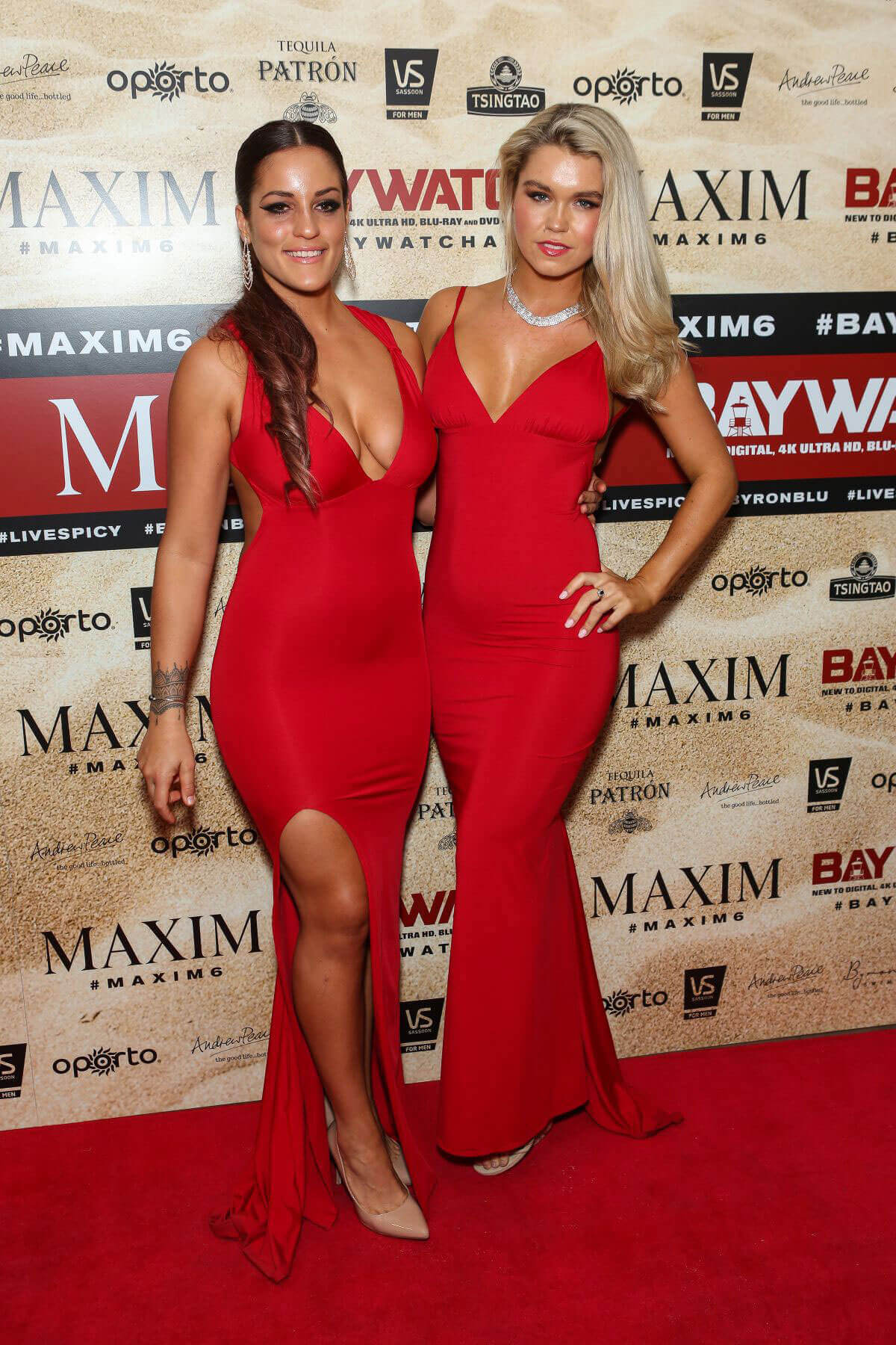 Elora Murger and Simone Ormesher Stills at Maxim Magazine's Baywatch Themed in Sydney
