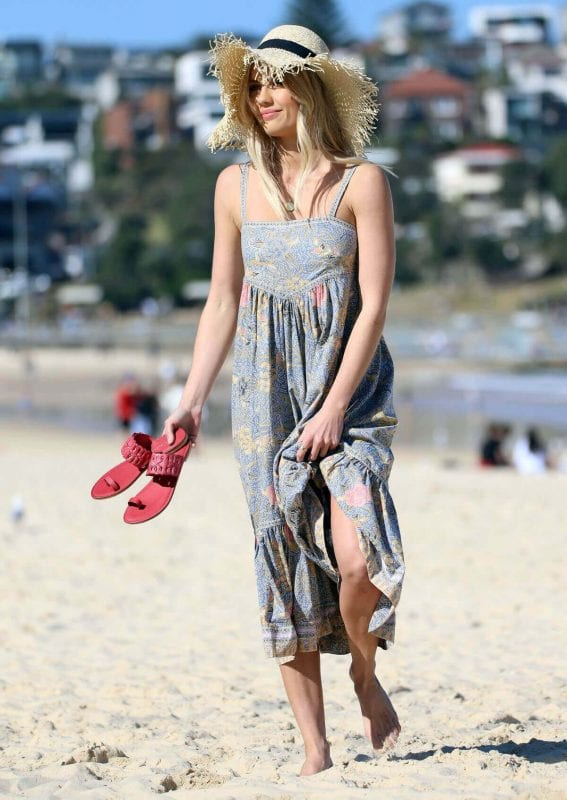 Elyse Knowles Photos for Ugg Shoes at Bondi Beach