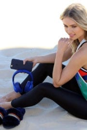 Elyse Knowles Photos on the Set of a Photoshoot for Ugg Shoes at Bondi Beach