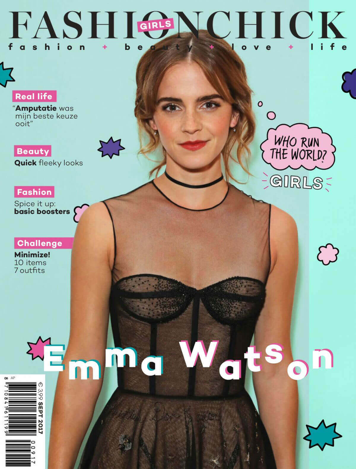 Emma Watson Stills in Fashionchick Girls Magazine, September 2017