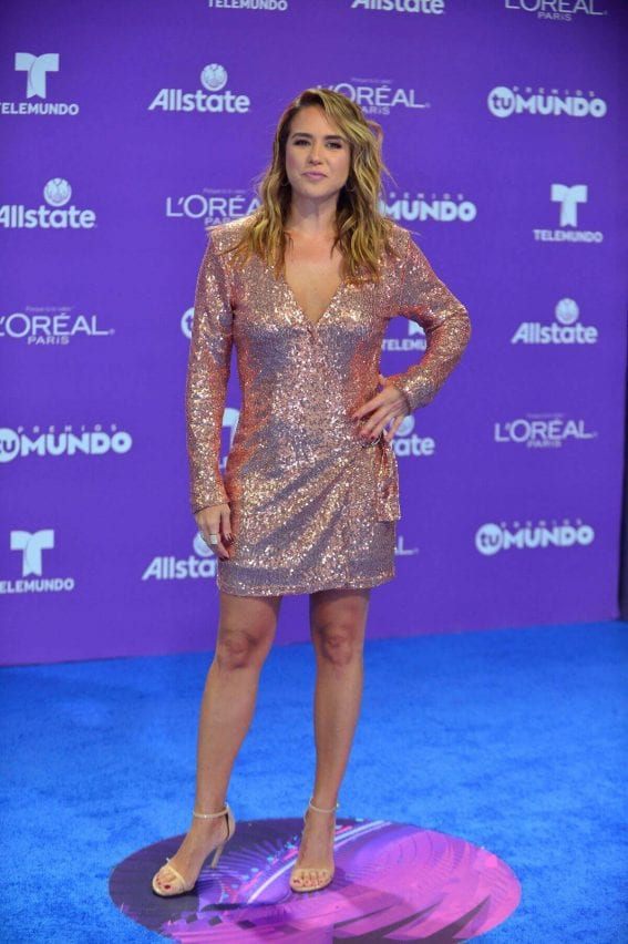Erika de la Vega Stills at Telemundo's 2017 Premios tu Mundo at in Miami