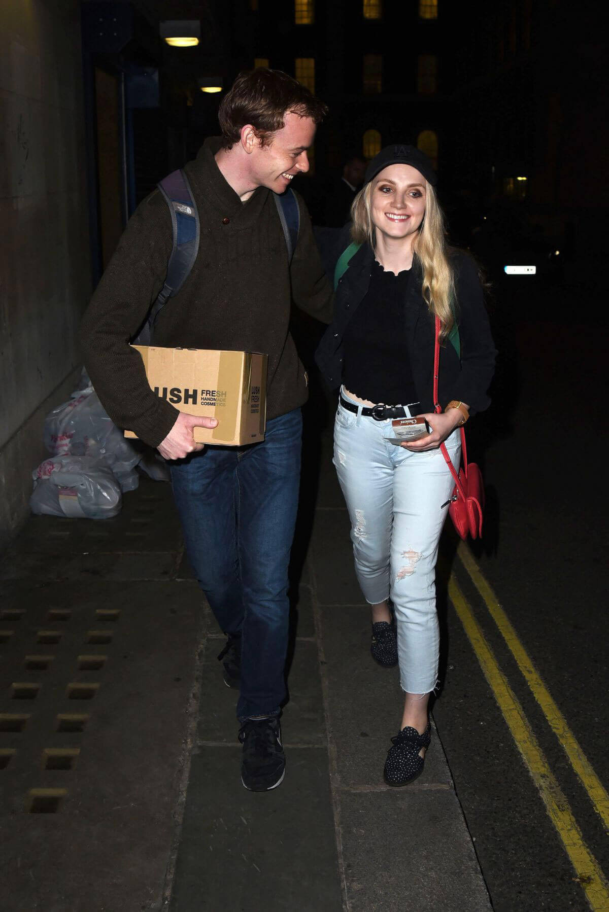 Evanna Lynch Stills Leaves Disco Pigs in London Images