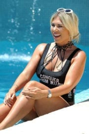 Frankie Essex wears Swimsuit on Holiday in Portugal