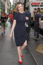 Geena Davis Stills at Leaves NBC's Today Show in New York