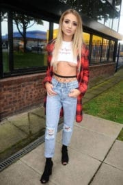 Georgia Harrison Stills shooting for 'Lusula' fashion brand in Manchester