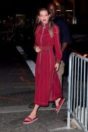 Gigi Hadid Stills on the Set of a Photoshoot at Mr. Chow in New York