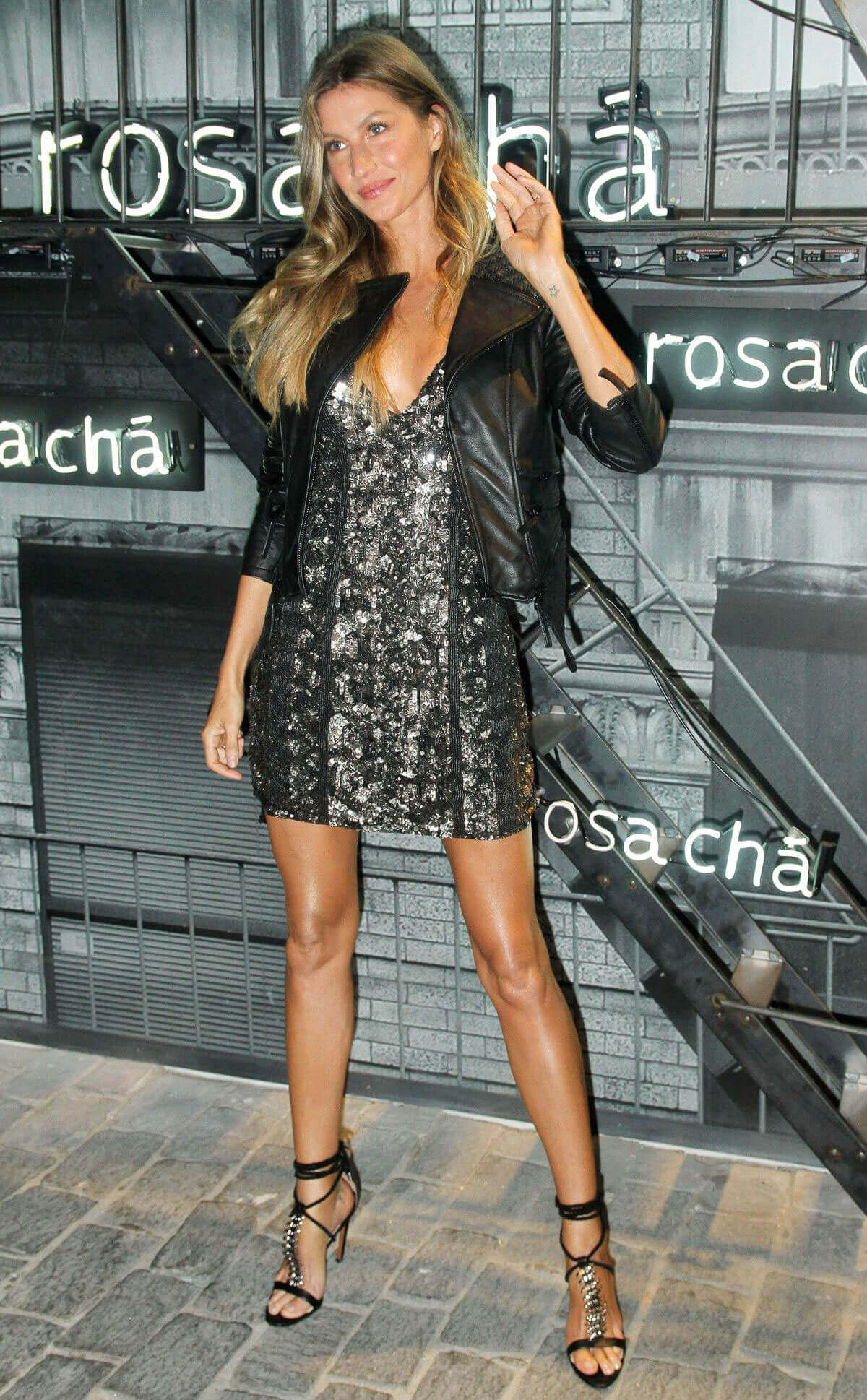 Gisele Bundchen Stills at Rosa Cha Summer Collection Lauch Event in Sao Paulo