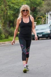 Goldie Hawn Stills Working Out Near Home in Brentwood
