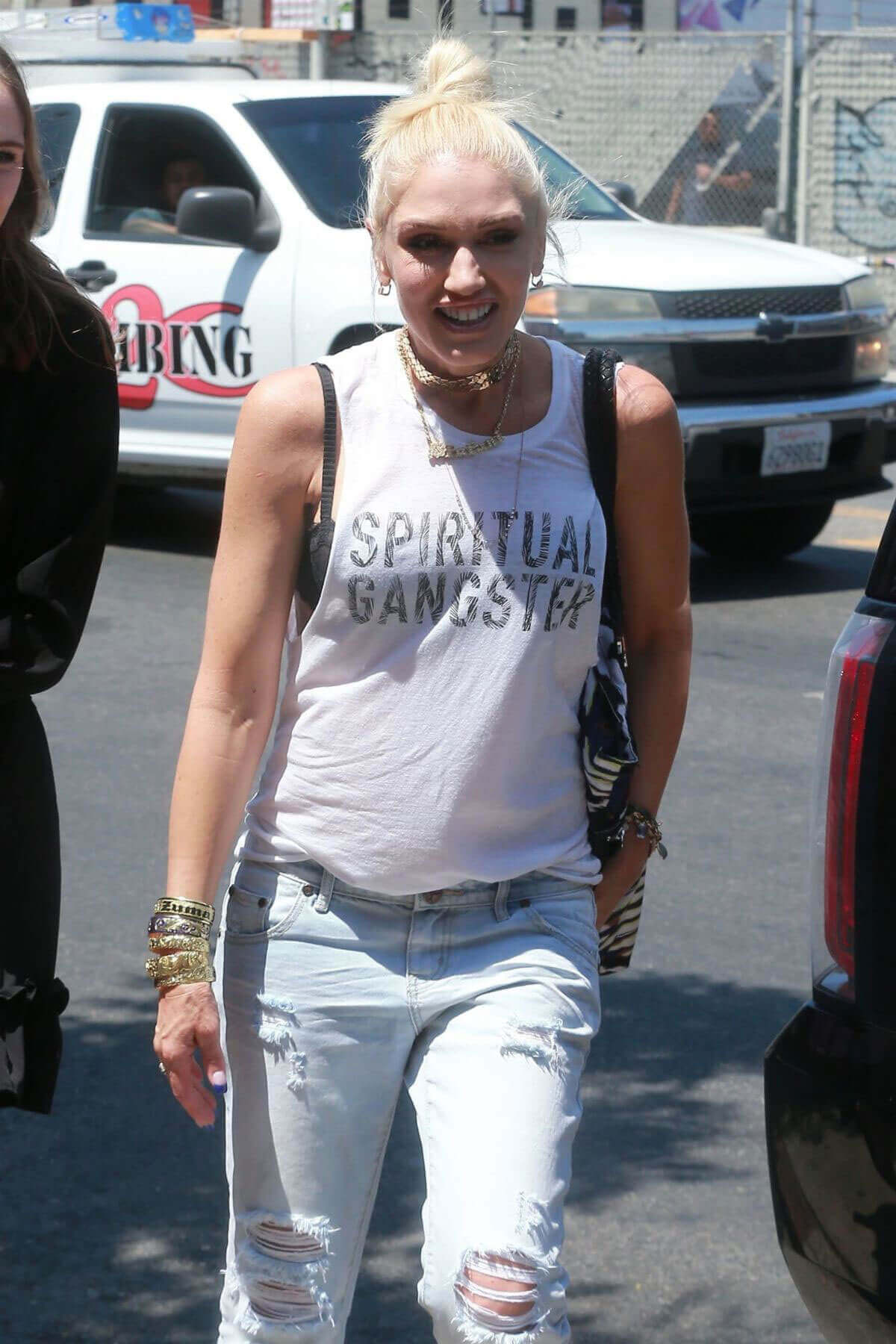 Gwen Stefani Stills Leaves Museum of Ice Cream in Los Angeles
