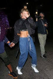 Hailey Baldwin Stills leaves The Nice Guy club in West Hollywood