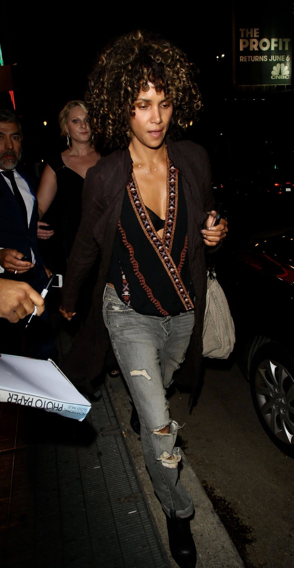 Halle Berry Stills Night Out in Los Angeles