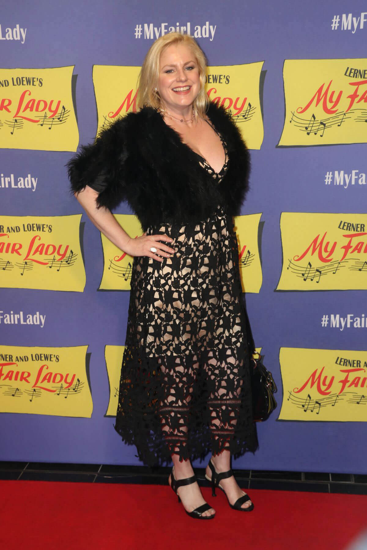 Helen Dallimore Stills at My Fair Lady Opening Night in Sydney