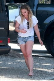 Hilary Duff Stills at Her Sister's House in Studio City Images