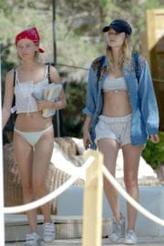 Immy Waterhouse wears white bikini at Holiday in Ibiza