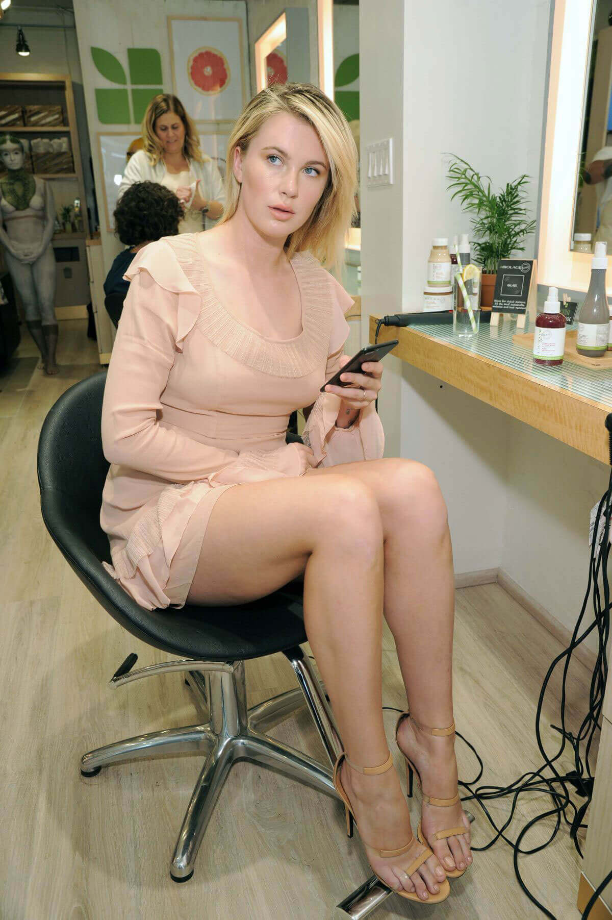 Ireland Baldwin shows off beautiful thighs at Biolage RAW Styling Experience in New York