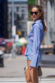 Izabel Goulart Stills Out and About in New York