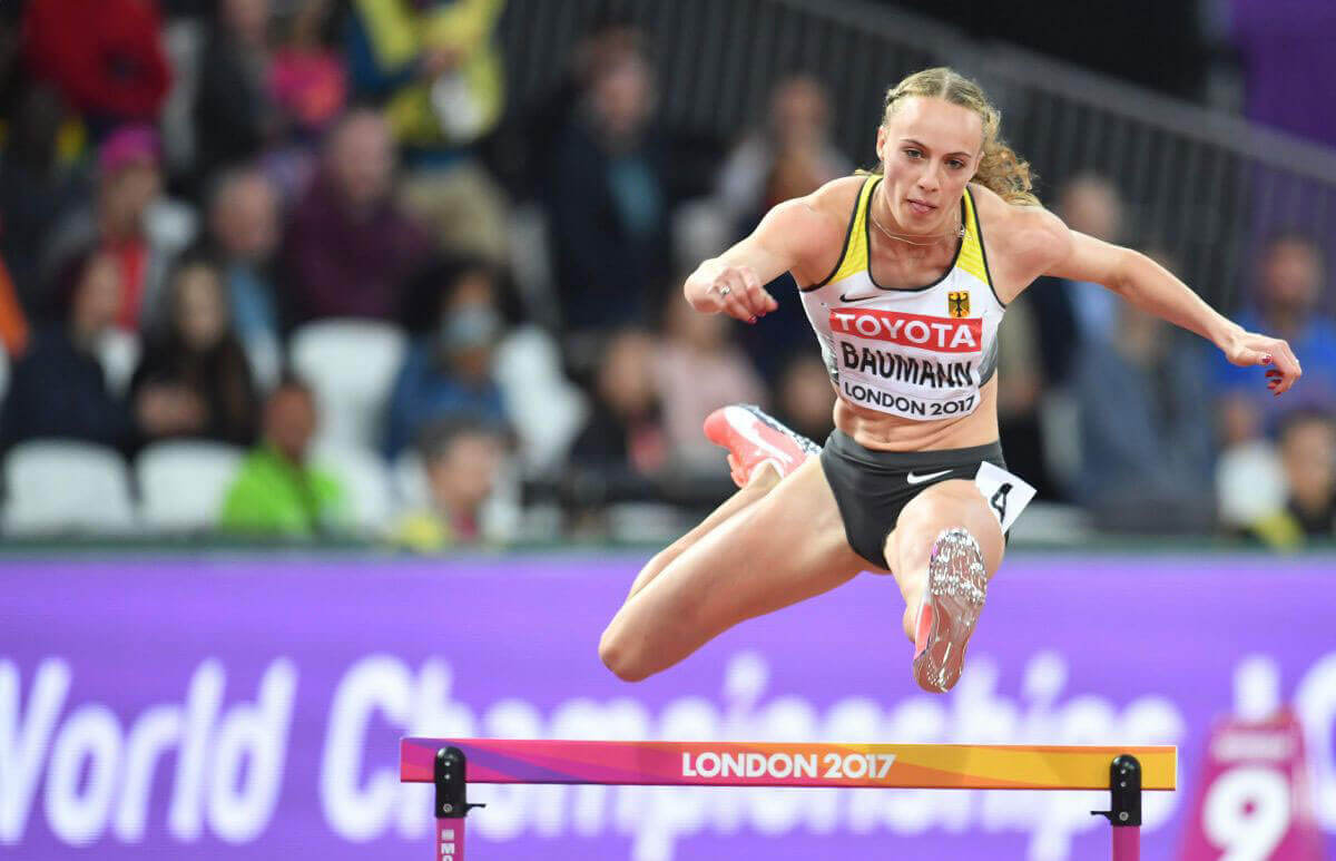 Jackie Baumann Stills at 400 m Hurdles Women Finale at IAAF World Championships in London