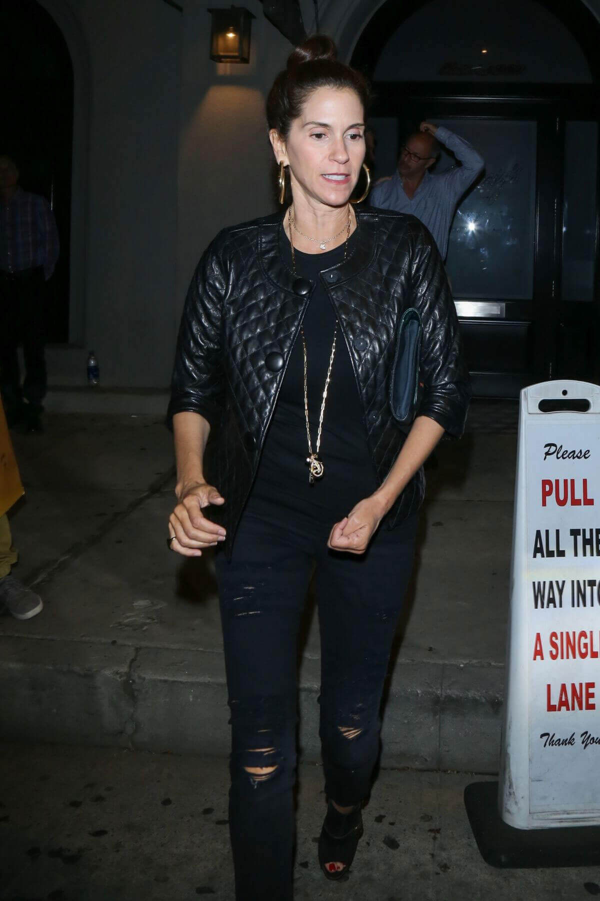 Jami Gertz Stills Out for Dinner in West Hollywood