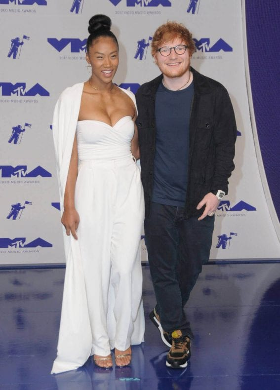 Jennie Pegouskie and Ed Sheeran Stills at 2017 MTV Video Music Awards in Los Angeles