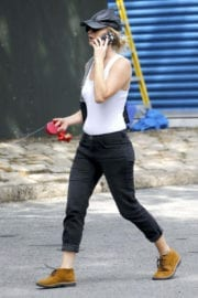 Jennifer Lawrence With Her Dog Out and About in New York
