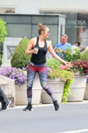 Jennifer Lopez Stills Heading to a Gym in New York Images