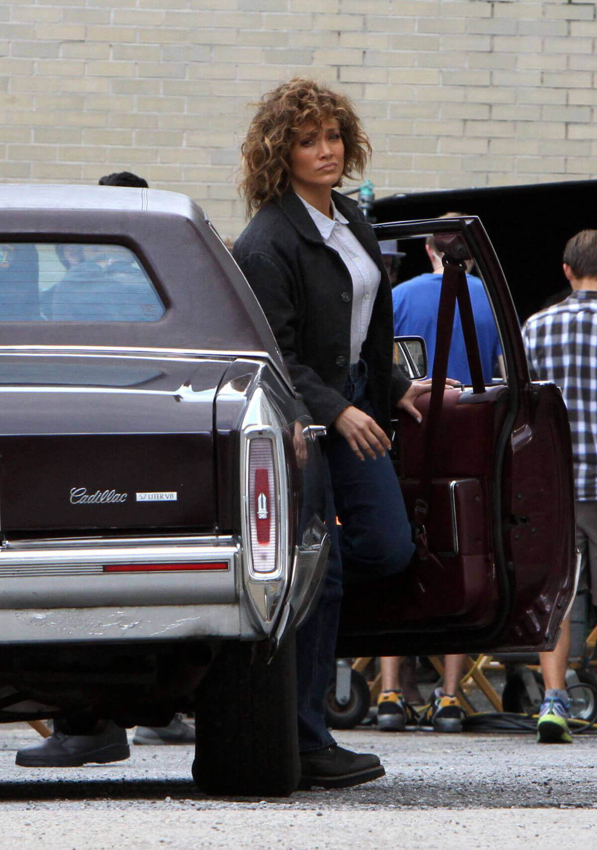 Jennifer Lopez Stills on the Set of Shades of Blue in Queens