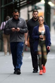 Jennifer Lopez with Her Hubby Heading to a Gym in New York