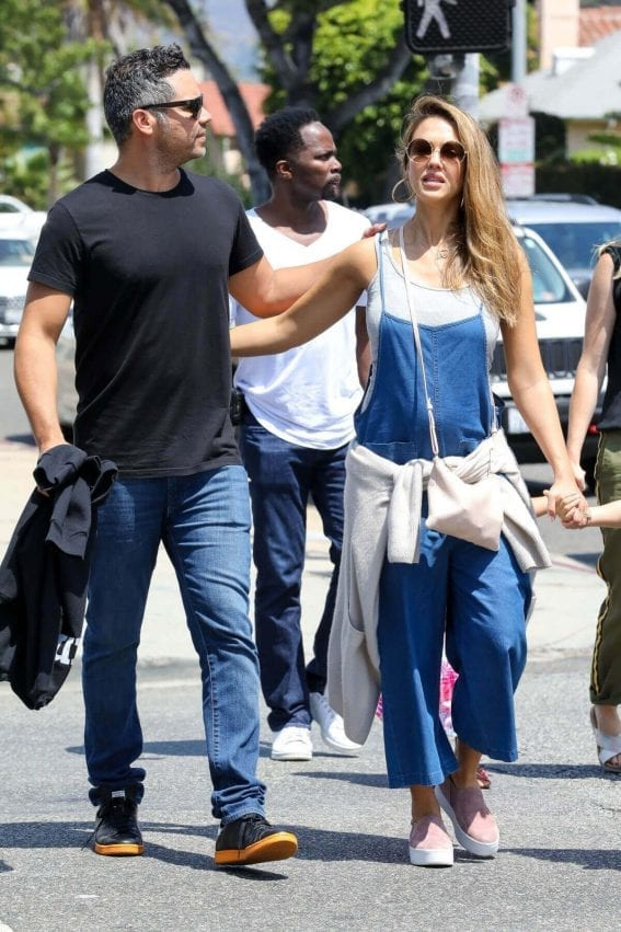 Jessica Alba and Cash Warren Stills at Out in Los Angeles