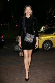 Jessica Gomes shows off lean legs at NGV Gala in Melbourne