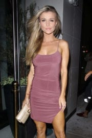 Joanna Krupa displays toned legs at catch LA in West Hollywood
