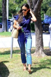 Jordana Brewster Stills in Blue Jeans Out Shopping in Beverly Hills