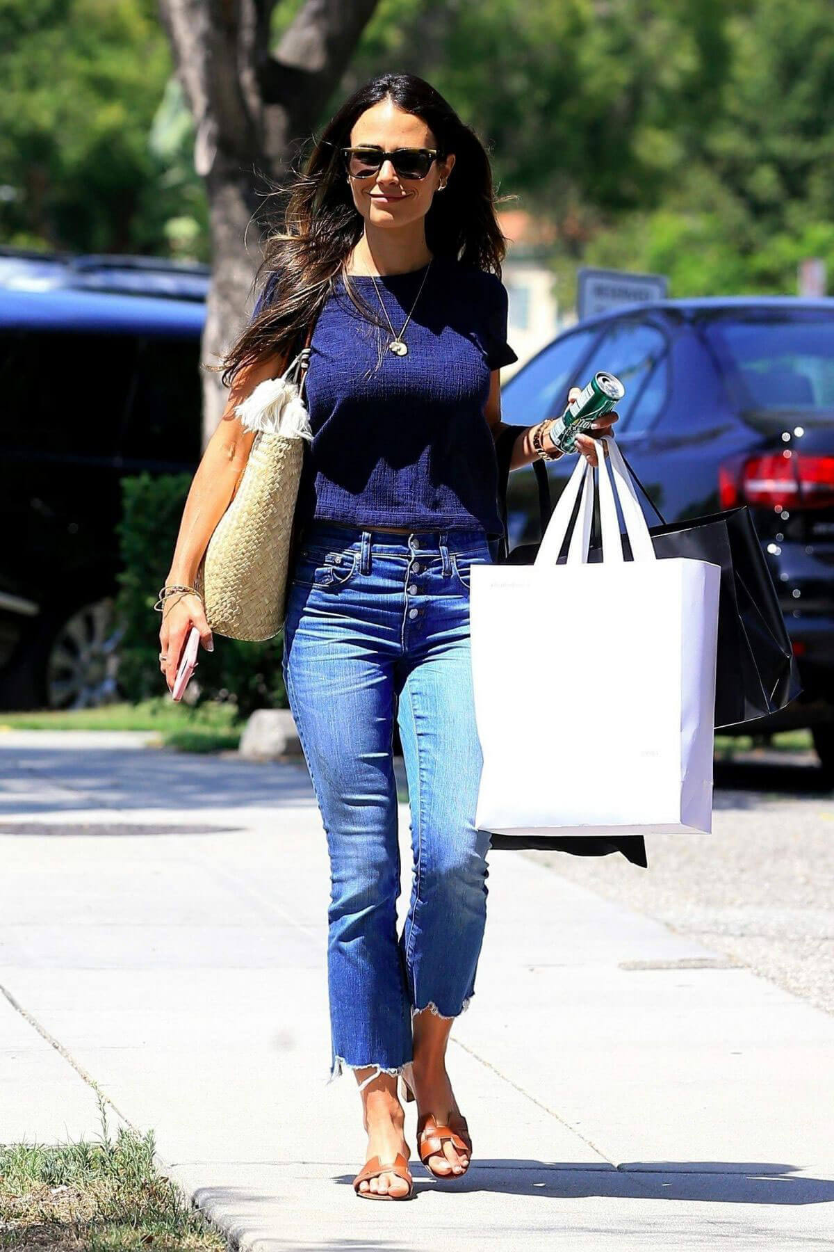 Jordana Brewster Stills in Jeans Out Shopping in Beverly Hills