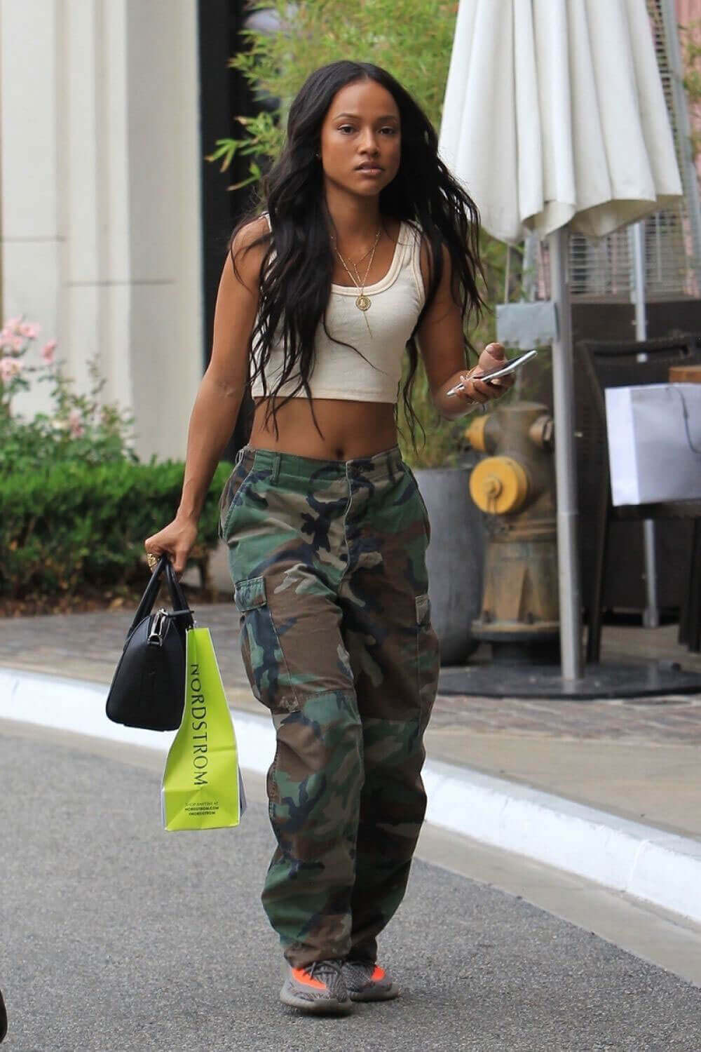 Karrueche Tran Stills Out Shopping in West Hollywood