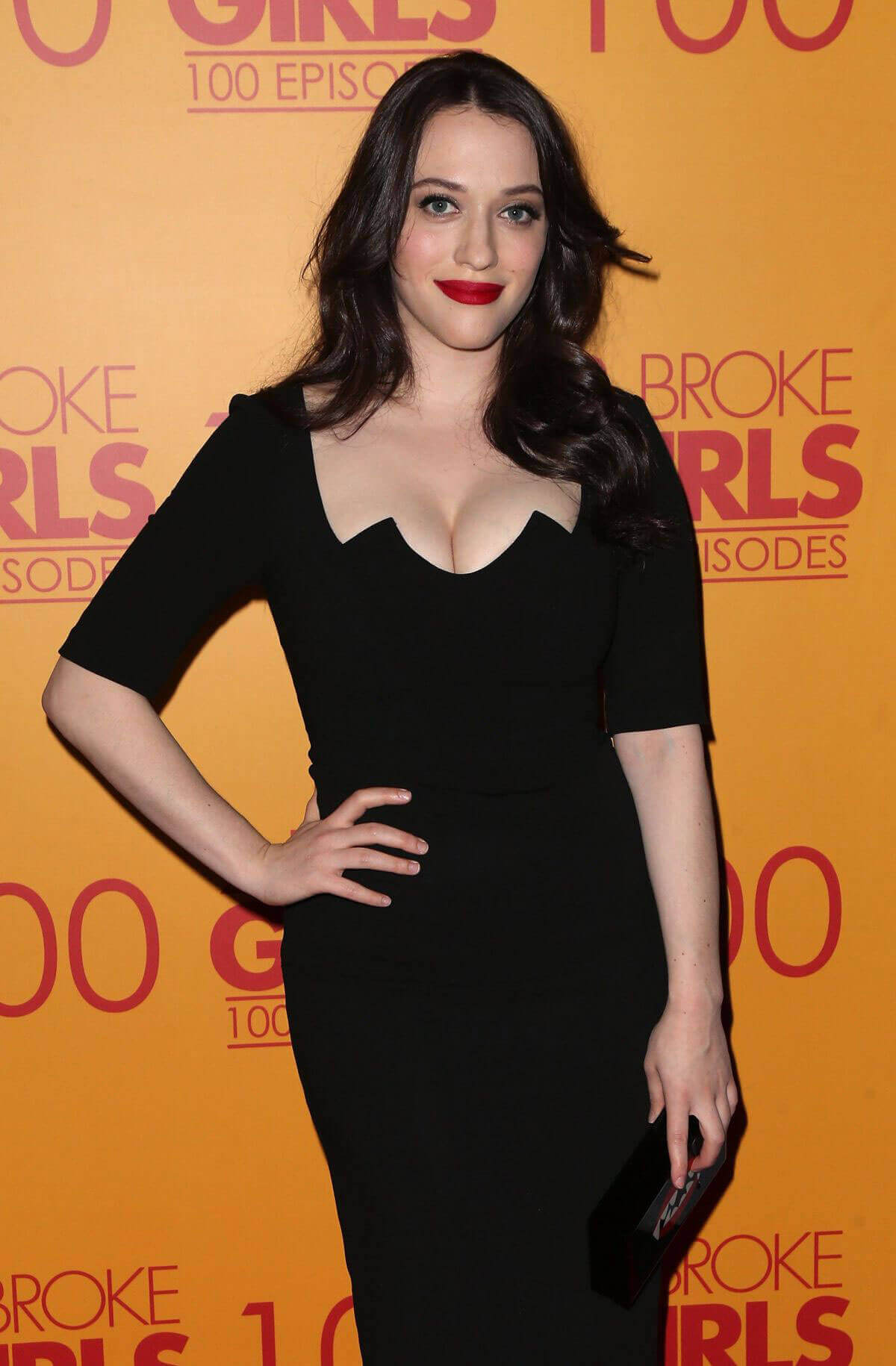 Kat Dennings Stills at 2 Broke Girls 100th Episode Celebration in Los Angeles