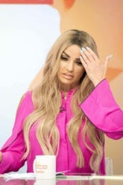 Katie Price Stills on the Set of Loose Women Show in London
