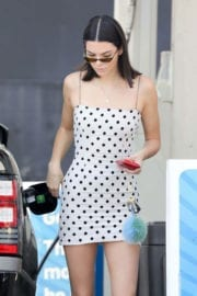 Kendall Jenner Stills at a Gas Station in Beverly Hills
