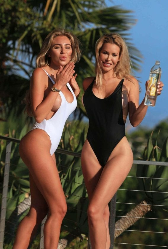 Khloë Terae and Kennedy Summers Stills in Swismuits for 138 Water Photoshoot in Beverly Hills