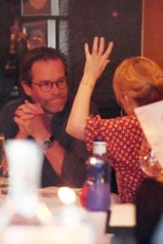 Kylie Minogue and Guy Pearce Stills Out for Dinner in London