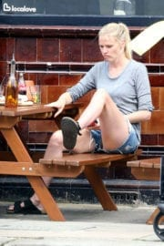 Lara Stone Stills Lunch with a Friend in London Images