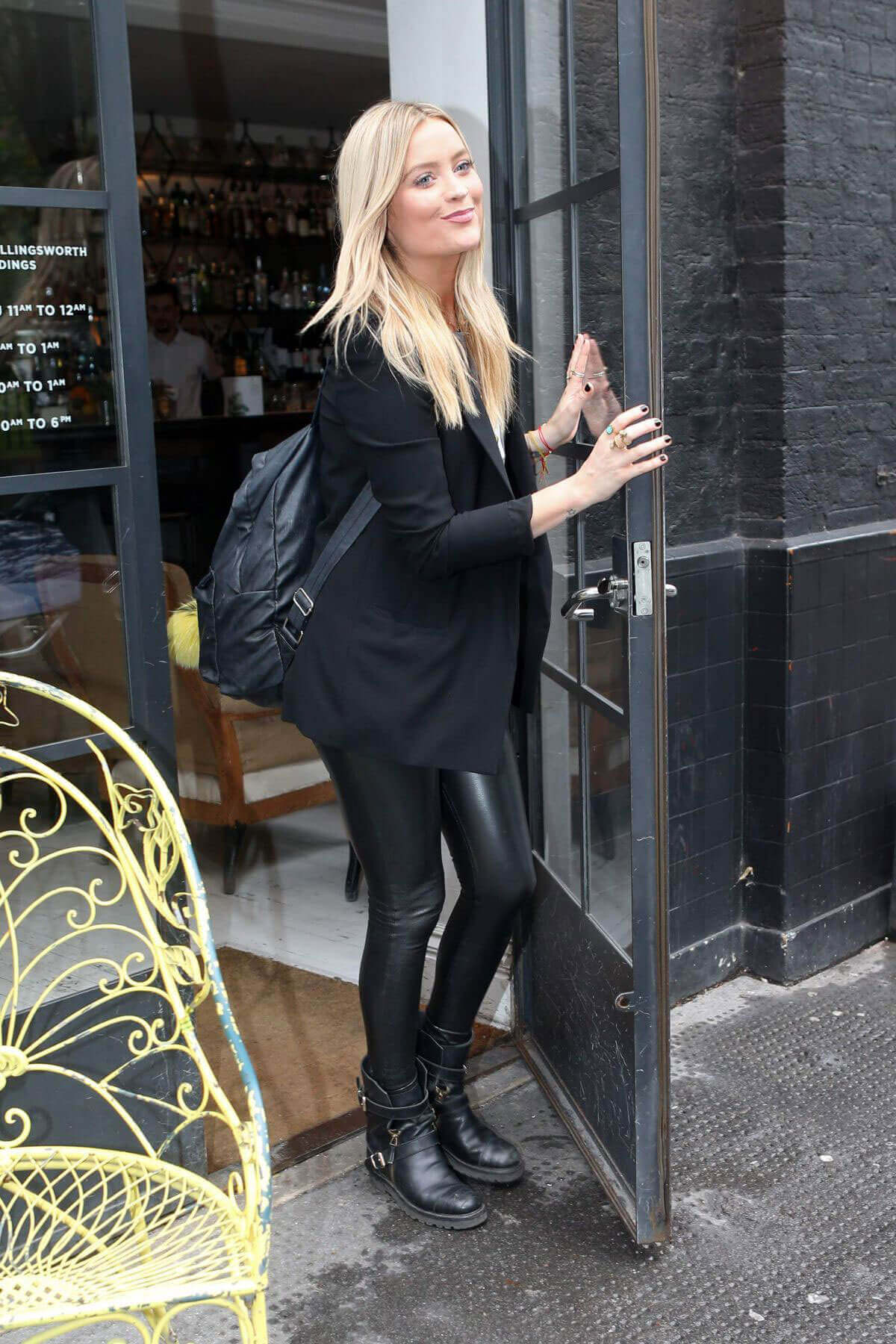 Laura Whitmore Stills at Bourne and Hollingsworth Buildings in London