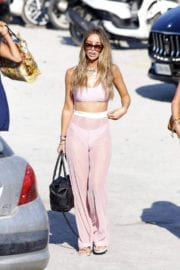 Lauren Pope on the Beach in Ibiza, Spain Images