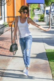 Lisa Rinna Stills in Jeans Out Shopping in West Hollywood