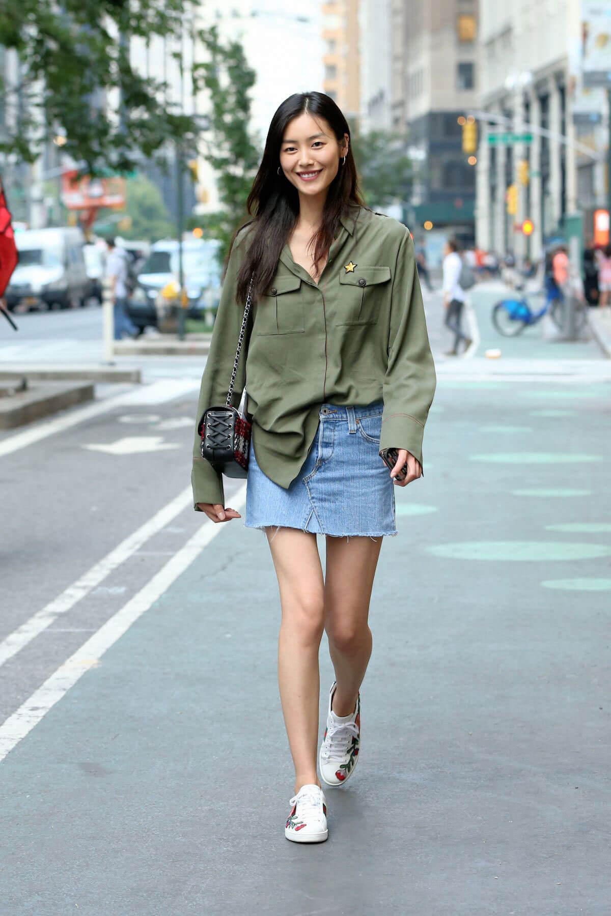 Liu Wen Stills at 2017 Victoria's Secret Fashion Show Casting in New York