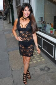 Lizzie Cundy and Pascal Craymer Stills at Pierre Haute Coiffure Beauty & Spa Salon in Londo