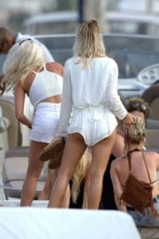 Louisa Johnson Party with Her Friends at a Yacht in Ibiza