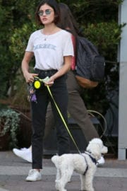 Lucy Hale Stills Pay Her Dog Sitter in Vancouver Photos