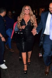 Mariah Carey Stills Out for Dinner in New York