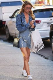Martha Hunt shows off lean legs Out and About in New York