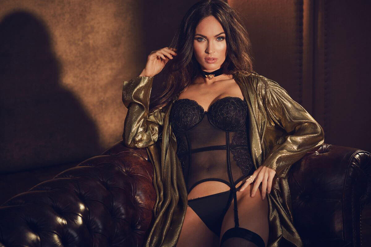 Megan Fox Photos for Frederick's of Hollywood, Fall 2017 By Jordan Collection